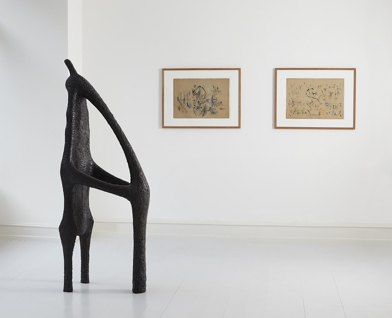 Ernest Mancoba - Installation view, E W S - Ernest Mancoba, Wonga Mancoba, Sonja Ferlov Mancoba, Galerie Mikael Andersen, Copenhagen
