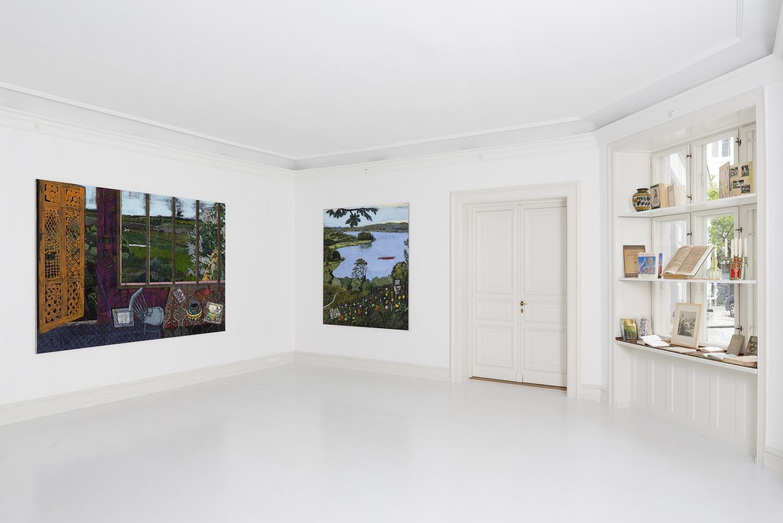 Jesper Christiansen - Installation view, Jesper Christiansen, With Dante in Paradise, the South-eastern part of Odsherred, Galerie Mikael Andersen, Copenhagen (Photo: Jan Søndergaard)