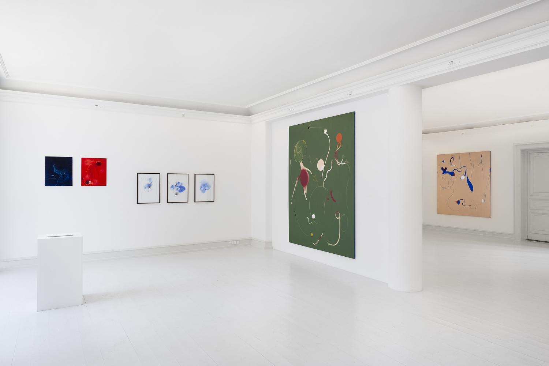 Kathrine Ærtebjerg - Installations view, Kathrine Ærtebjerg, The Invisible Poem, Galerie Mikael Andersen, Copenhagen