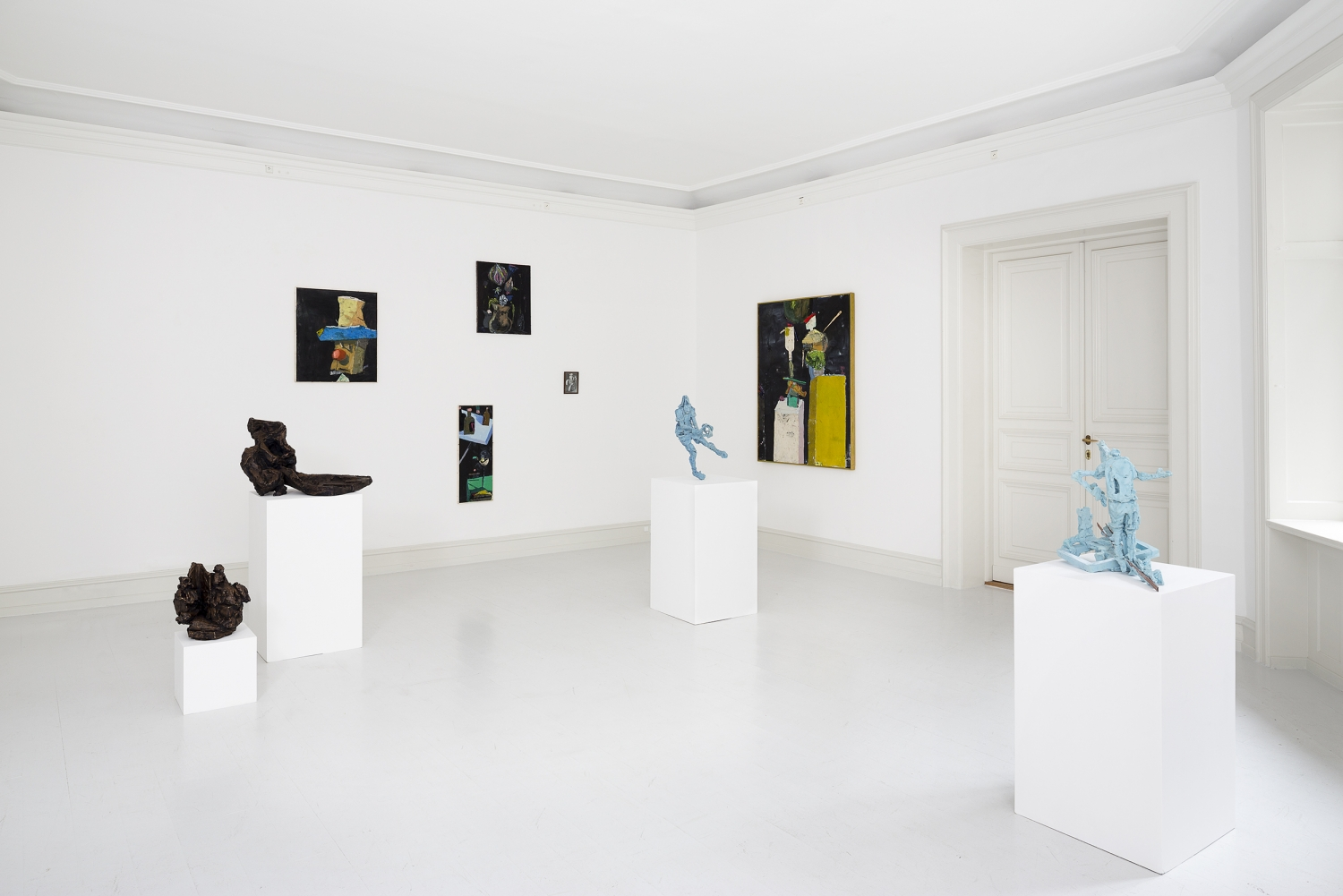 Lucy Teasdale - Installation view, Fritz Bornstück & Lucy Teasdale, One for the Birds, Galerie Mikael Andersen, Copenhagen (photo: Jan Søndergaard)