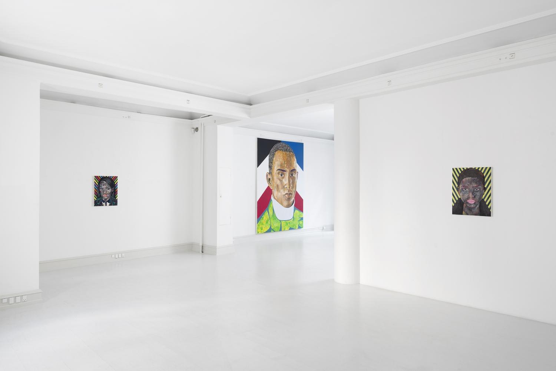 Mustafa Maluka - Installation view, Mustafa Maluka, Disembedded, Galerie Mikael Andersen, Copenhagen (photo: Jan Søndergaard)