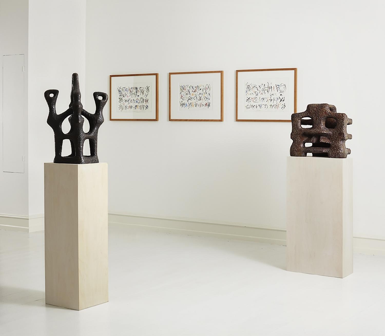 Sonja Ferlov Mancoba - Installation view, E W S - Ernest Mancoba, Wonga Mancoba, Sonja Ferlov Mancoba, Galerie Mikael Andersen, Copenhagen
